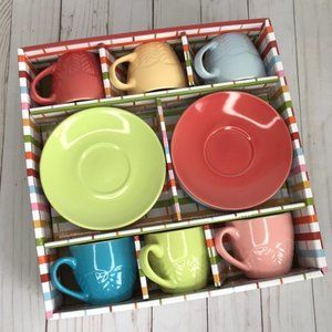 6 Multicolored Espresso/ Latte/ Coffee Small Mugs
